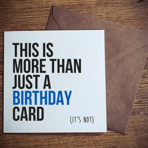 more than just a birthday card