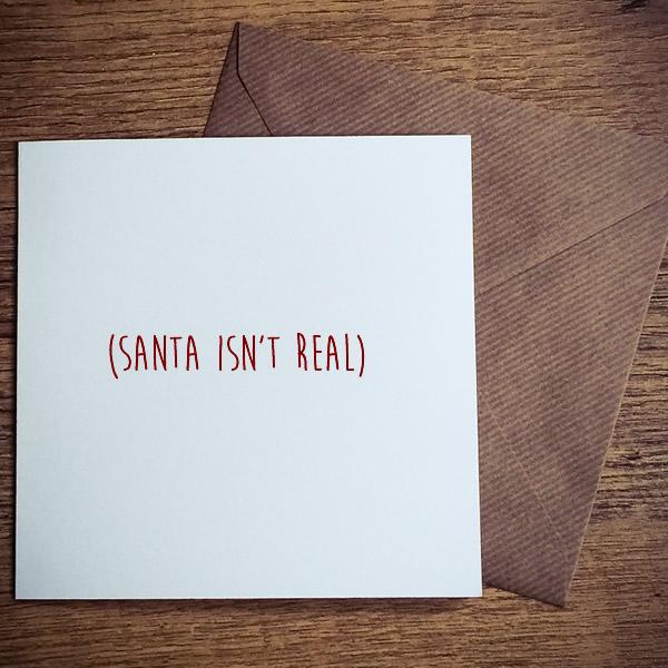 santa isnt real