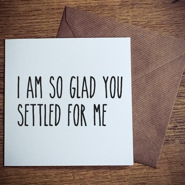 settled for me