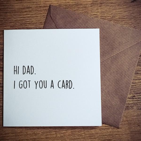 i got you a card